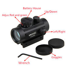 OTTICA Tattica Holo CACCIA Rosso Verde Laser Dot Sight Airsoft Puntatore Softair