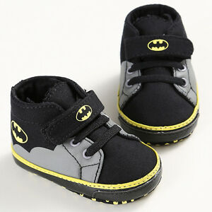 Newborn-Baby-Kids-Boys-Cute-Cartoon-First-Walkers-Batman-Lace-Up-Sneakers-Shoes