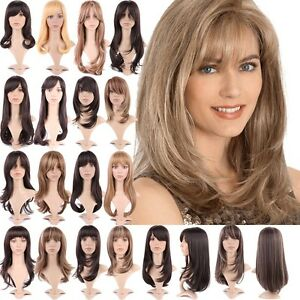 cute effortless long layered haircuts full wig with bangs