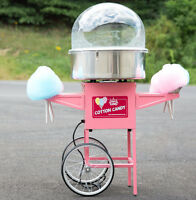 Carnival King With Bubble Cotton Candy Machine Maker Cart Stand Commercial