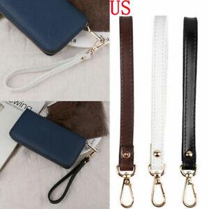2pcs Genuine Leather Replacement Wrist Strap for Wristlet Purse Keys Chains