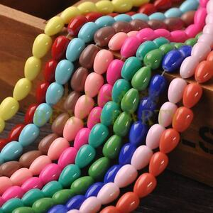 New-Arrival-20pcs-11X8mm-Teardrop-Shape-Loose-Spacer-Glass-Beads-Mixed-Color