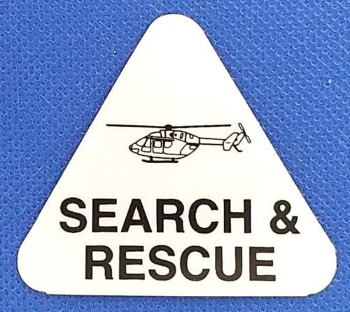 SEARCH AND RESCUE Highly Reflective HELICOPTER Helmet Decal USAR Helo Decal