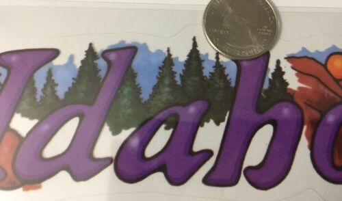 Stickopotamus•Border•Title•Travel •Destination•• 1pc IDAHO State Header Sticker