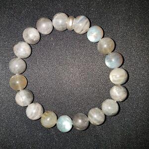 Labradorite-10mm-Bead-Bracelet
