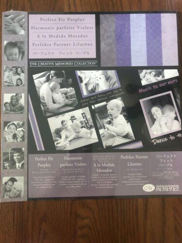 New in Package Creative Memories 12x12 Perfect Fit Purples Scrapbook Paper
