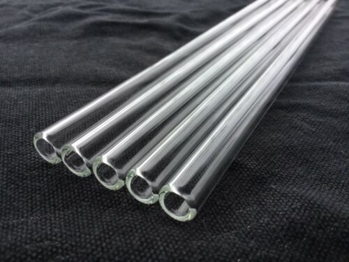 Reusable Glass Drinking Straws Set Eco Friendly Straight UK Seller FREE POSTAGE