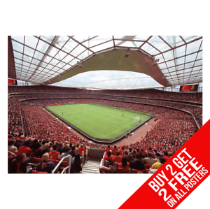 ARSENAL-EMIRATES-STADIUM-Poster-Arte-Impreso-A4-A3-Tamano-Buy-2-GET-ANY