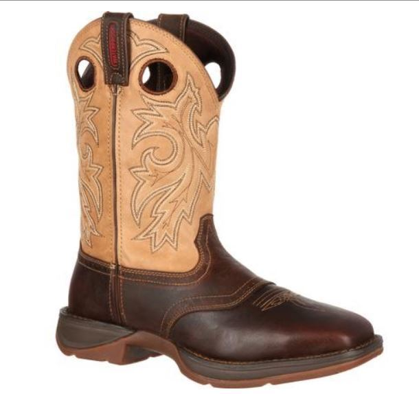 Durango Rebel Men's Steel Toe EH  Saddle Up Pull On Leather Western Boot DB019