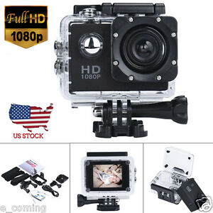 140° Waterproof 12MP HD 1080P Action Sports Portable Camcorder DV Camera Car Cam