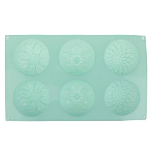 Savon en silicone moule fleur motif rectangulaire savon fabrication HQ