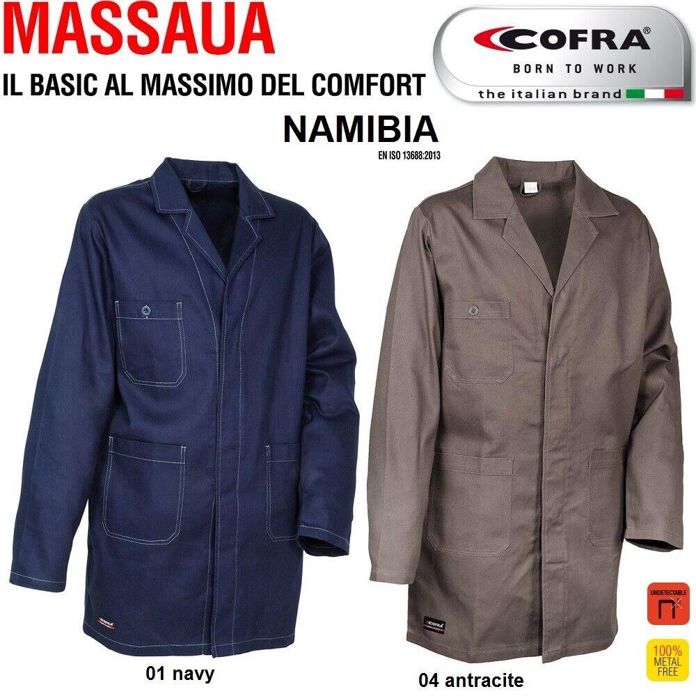 Immagine 01 - Camice da lavoro COFRA modello NAMIBIA 100% cotone 270 g/m² industria logistica