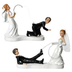 Brautpaar Hochzeitspaar Geangelt Tortenaufsatz Hochzeit Lustig
