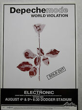 Depeche Mode Original World Violation Tour 13x19 Concert Poster Dodger Stadium