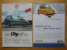 CITY-EL Electric Microcar Trike rare brochures x2 - City Com Germany