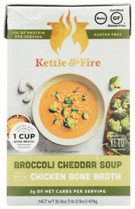 Kettle And Fire Keto Soup Broccoli Cheddar Chicken Bone Broth (Pack of 6,16....