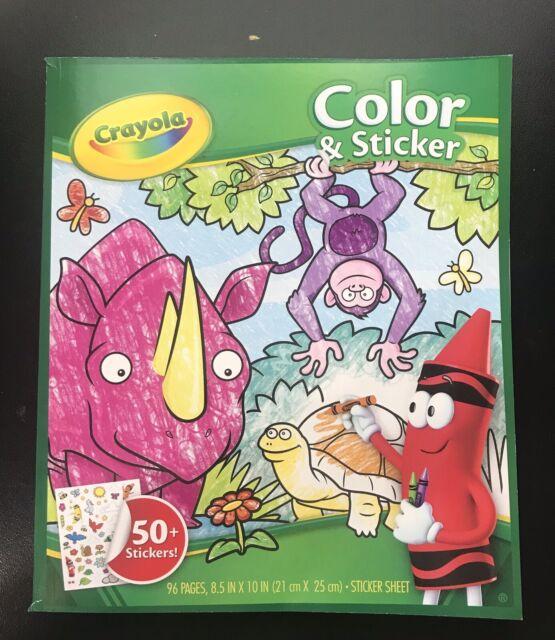 Crayola Color 'n Sticker 75+ Jungle Animals Stickers M   eBay