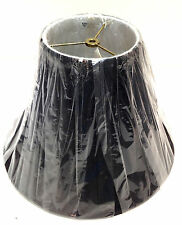 "15"" Empire Lake Shore Black White Liner Lampshade Fabric Lamp Shade"