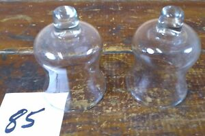 Votive Cups Set of 2 Homco Home Interior Crystal Clear Glass Candle Holder