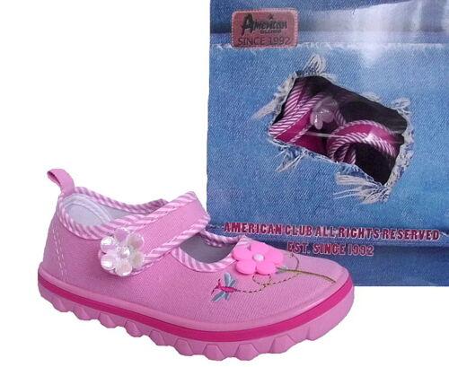 American Club Mädchen Kinder Ballerinas Hausschuhe Slipper Einlegesohle Leder  .