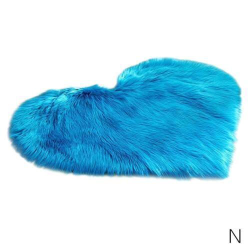 Imitation Lambskin Rugs Faux Fur Non Slip Bedroom Shaggy Heart