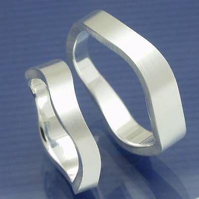 1 Paar Besondere Eheringe Trauringe Freundschaftsringe Aus 925 Silber P8056325