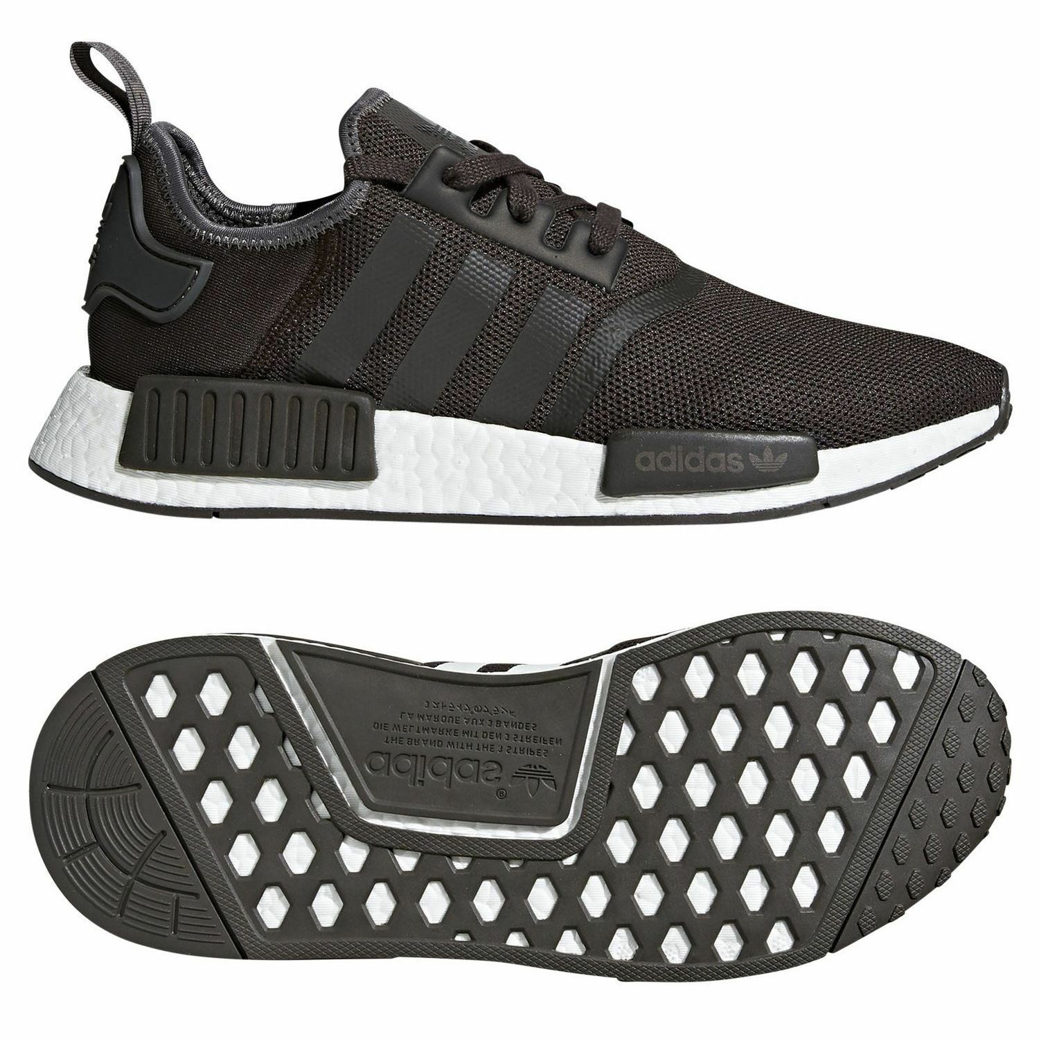 Adidas ORIGINALS NMD_R1 TRAINERS BROWN SNEAKERS SHOES MEN'S 3 STRIPES TREFOIL