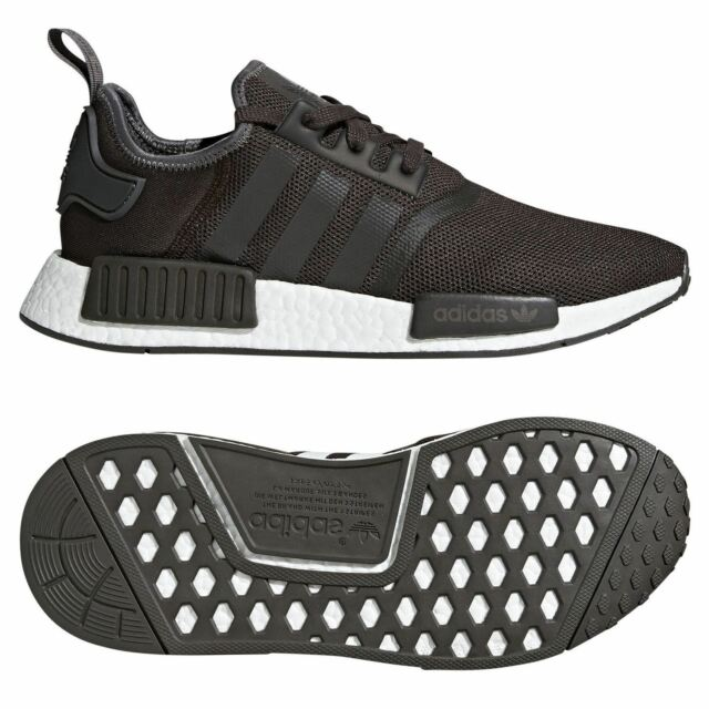 2fbbbf6d1b1b adidas ORIGINALS NMD R1 TRAINERS BROWN SNEAKERS SHOES MEN S 3 STRIPES  TREFOIL