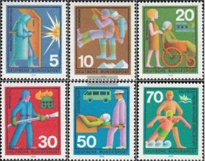 BRD-BR-Deutschland-629-634-kompl-Ausgabe-gestempelt-1970-Hilfsdienste