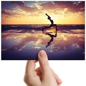 Beach-Yoga-Fitness-Exercise-Small-Photograph-6-034-x-4-034-Art-Print-Photo-Gift-14523