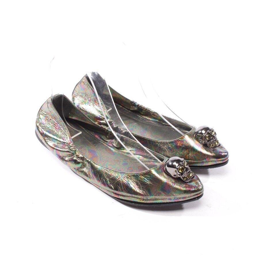 Cómodo y bien parecido Descuento por tiempo limitado ALEXANDER MCQUEEN Ballerinas Gr. D 37 Multicolor Damen Shoes Leather Flats Loafe