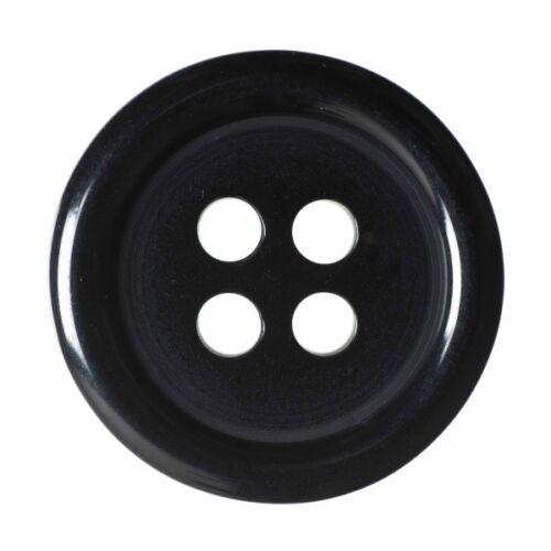Paquete De 4 Dobladillo De Color Liso PLATO 4 agujero coser a través de los botones de 22.5mm