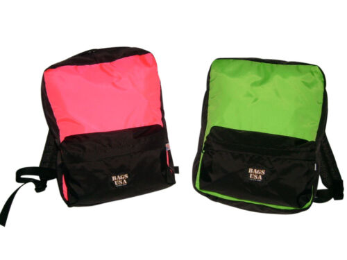 Backpack student size light weight but durable neon Backpacks Made in U.S.A.