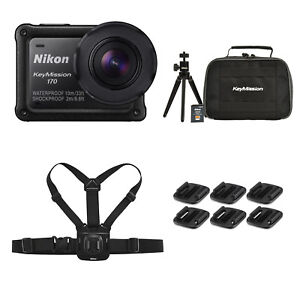 later the sale of shoes classic shoes Details about Nikon KeyMission 170 4K Action Camera + Accessories