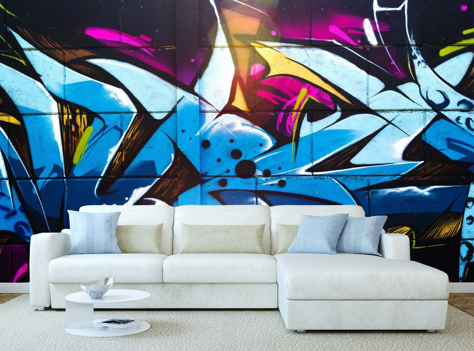 Street art Graffiti Photo Wallpaper Wall Mural DECOR Paper Poster Free Paste