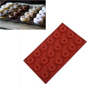 18 Cavity Mini Fancy Bundt Doughnut Chocolate Pan Silicone