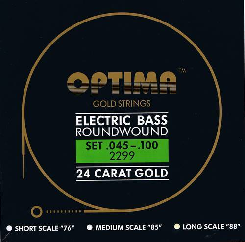 Optima Maxima  24 K Gold Bass Strings 45-100