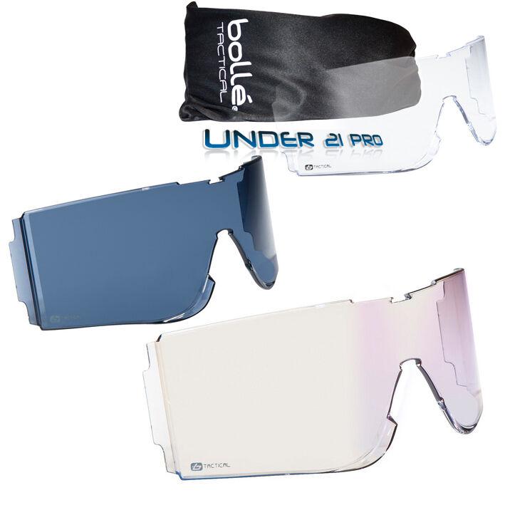 X810 écrans de rechange ballistics incolor ESP Fumé pour masque Bollé Tactical