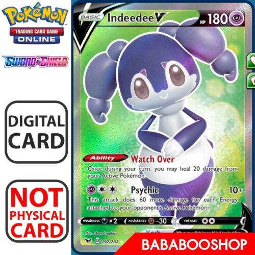 Indeedee V SR 192//202 Sword and Shield for Pokemon Card Online Digital