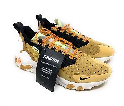 Mens Nike React Sertu Club Gold//Black-Wheat Size 8 Free Postage!