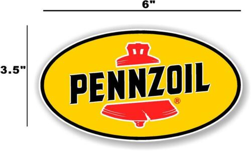 """4/"""" PENNZOIL OIL LUBSTER front DECAL GAS PUMP SIGN GASOLINE PENN-2"""