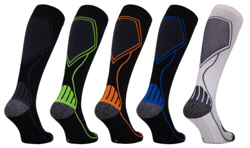 Top 2 Pairs Compression socks de Deporte, Socks Running con COOLMAX hombre e mujer for cheap