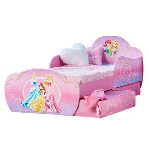 Kinderbett Schubladen Disney Princess 140x70cm Jugendbett Juniorbett Holz rosa