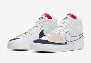 Details about NIKE SB Blazer Mid Edge Hack Pack WHITE/MIDNIGHT NAVY-UNIVERSITY RED US 12