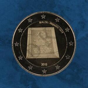 Malta-Ausrufung-der-Republik-1974-2-Euro-2015-unc