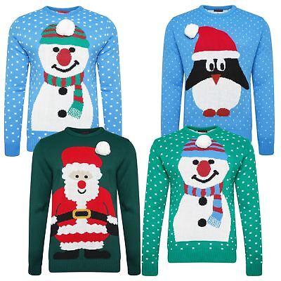 Ehrlich Mens Women Ladies Christmas Jumper 3d Xmas Novelty Festive Penguin Santa Snowman
