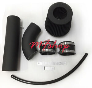 Black Red For 2PC 2007-2013 Acura MDX 3.7L V6 Air Intake Kit Filter