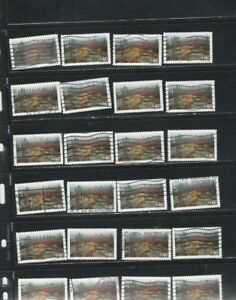 24-USED-ACADIA-NATIONAL-PARK-STAMPS