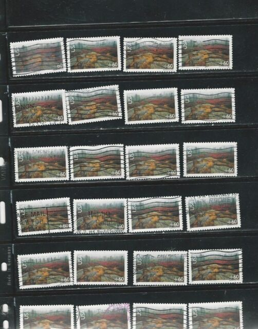 24 USED ACADIA NATIONAL PARK STAMPS