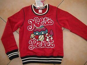 283-Nolita-Pocket-Girls-Sweatshirt-Pullover-Pilz-Stickerei-Logo-Besatz-gr-152